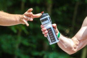 вода на тренировке