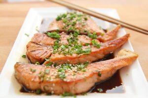 лосось против жира
